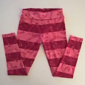 lularoe leggings osmf pink striped hearts womens